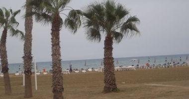 Finikoudes Beach, Larnaka, Cypr