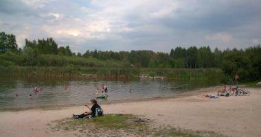 Plaża uroczysko Lublinek w Łodzi nad Stawem Bielice