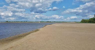 Plaża przy ujściu Bugu do Narwi w Arciechowie nad Zalewem Zegrzyńskim