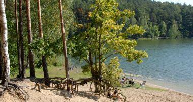 Plaża w Krówce Leśnej nad Jeziorem Stoczek