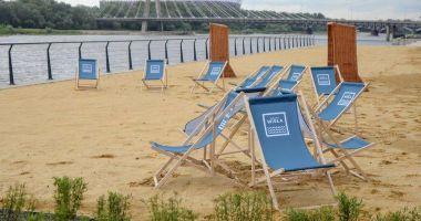 Plaża przy Bulwary nad Wisłą w Warszawie