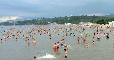 Plaża Songdowon w Wonsan nad Morzem Japońskim