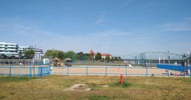 Plaża Miejska na Błoniach Nadwiślańskich w Toruniu nad Wisłą