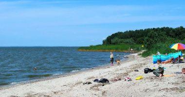 Plaża przy granicy Polsko-Rosyjskiej w Starej Pasłęce nad Zalewem Wiślanym