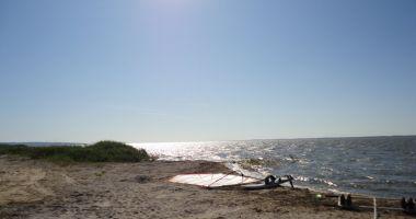 Plaża w Różańcu nad Zalewem Wiślanym