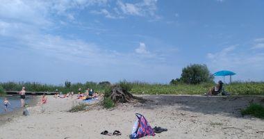 Plaża Miejska we Fromborku nad Zalewem Wiślanym