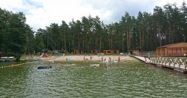 Plaża przy OW Wałpusz w Starych Klejkutach nad Jeziorem Wałpusz