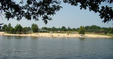 Plaża nad zalewem Kaniów, Borowa Góra
