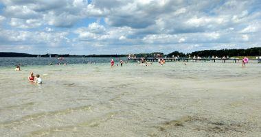 Plaża O.W. Rusałka w Warchałach nad Jeziorem Świętajno Narckie